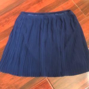F21 XS blue contemporary mini skirt